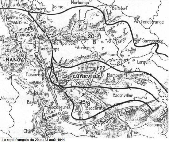 les batailles de lorraine en 1914 Visually Appealing Resumes les pr liminaires de la bataille le repli fran ais